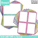 Task Card Templates #1 - 2x1 & 2x2 Vertical Bundle – Rainbow Chevrons