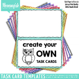 Task Card Templates #1 - 2x1 Vertical – Rainbow Chevrons