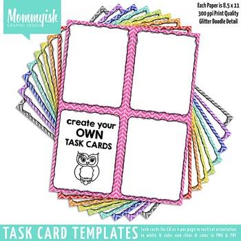 Task Card Templates #1 - 2x2 Vertical – Rainbow Chevrons