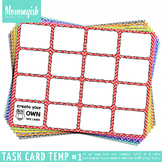 Task Card Templates #1 - 4x4 Horizontal – Rainbow Chevrons