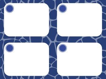 Task Card Templates: Giraffe
