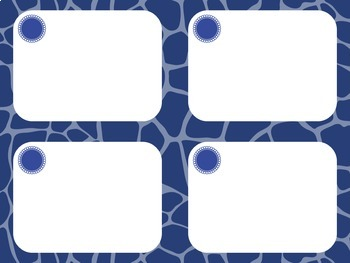 Task Card Templates: Giraffe