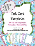 Task Card Templates - Set 1 - 200 Colorful Task Card Templates - COMMERCIAL USE