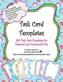 Task Card Templates - Set 1 - 200 Colourful Task Card Temp