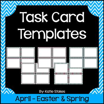 Task Card Templates - April & Spring