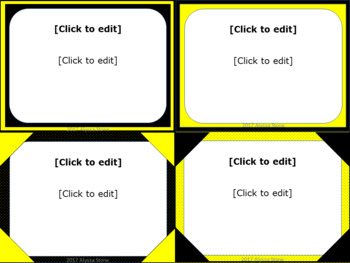 Task Card Templates - Bee Theme Colors