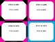 Task Card Templates - Black & Pink Brights