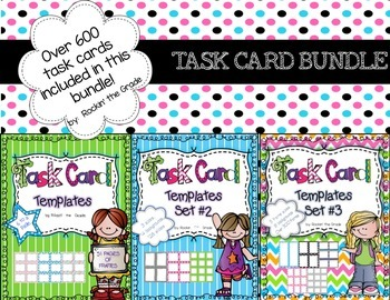 Task Card Templates Sets 1-3 **BUNDLE** Workstation/ Classroom Decor