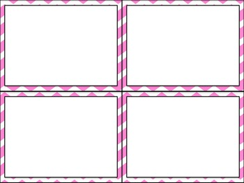 Task Card Templates - Chevron