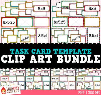 Task Card Templates Clip Art Bundle