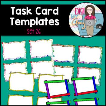 Task Card Templates Clip Art SET 26