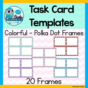 Task Card Templates - Colorful Polka Dots