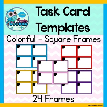 Task Card Templates - Colorful Square