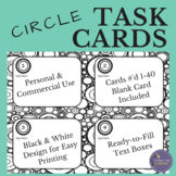Fun Black and White Task Card Template, Concentric Circles
