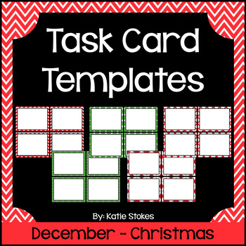Task Card Templates - December & Christmas