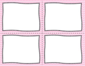 Task Card Templates Design-Pretty Pink