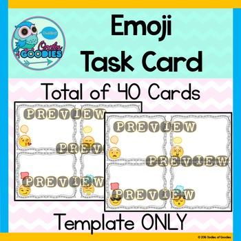 Task Card Templates - Emoji Theme