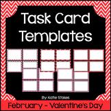 Valentine's Day Task Card Templates