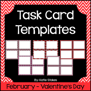 Valentine's Day Task Card Templates