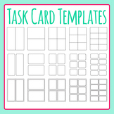 Task Card Templates / Flash Card Templates Clip Art Set for Commercial Use