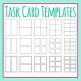 Task Card Templates / Flash Card Templates Clip Art Set fo