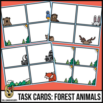 Task Card Templates: Forest Animals