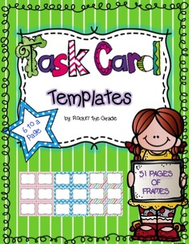Task Card Templates- Great for Workstations/ Center Work