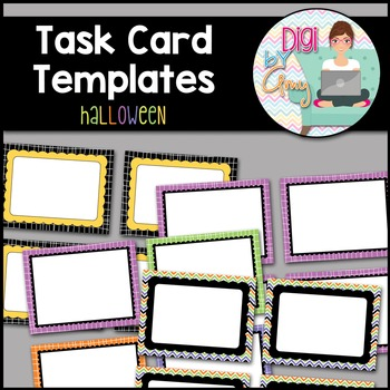 Task Card Clip Art Templates - Halloween