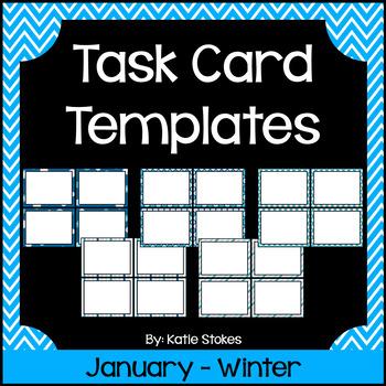 Task Card Templates - January & Winter