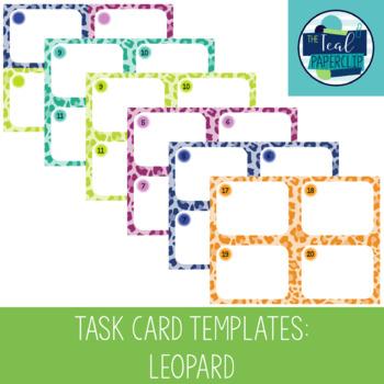 Task Card Templates: Leopard