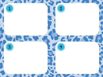 Task Card Templates: Leopard