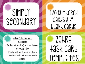 Task Card Templates: Animal Print Bundle