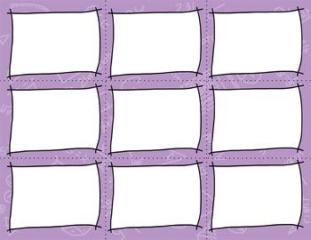 Task Card Templates Clip Art MINI SET 2