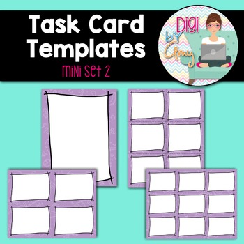 Task Card Templates clipart - MINI SET 2