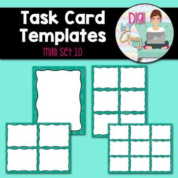 Task Card Templates Clip Art MINI SET 10