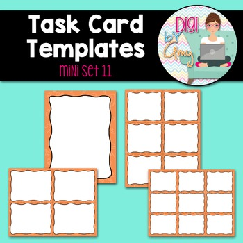 Task Card Templates clipart - MINI SET 11