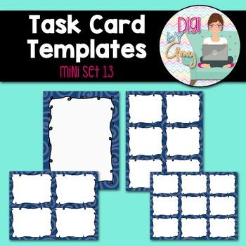 Task Card Templates Clip Art MINI SET 13