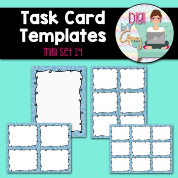 Task Card Templates Clip Art MINI SET 14