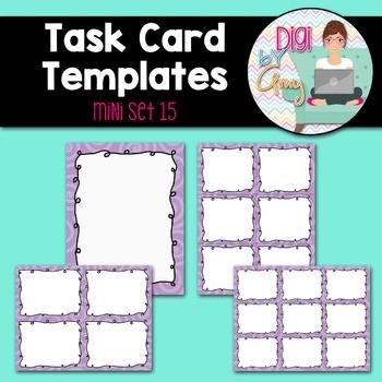 Task Card Templates Clip Art MINI SET 15