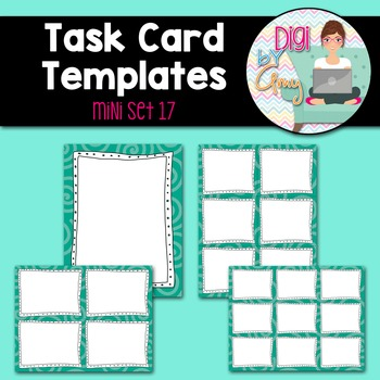 Task Card Templates Clip Art MINI SET 17