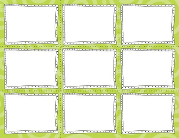 Task Card Templates Clip Art MINI SET 18
