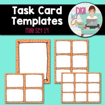 Task Card Templates Clip Art MINI SET 19