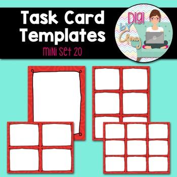 Task Card Templates Clip Art MINI SET 20