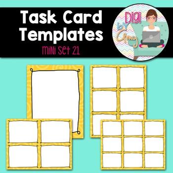 Task Card Templates Clip Art MINI SET 21