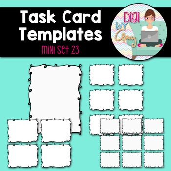 Task Card Templates Clip Art MINI SET 23