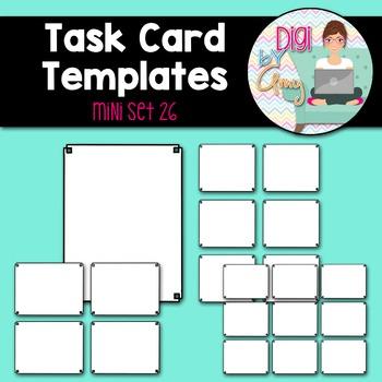 Task Card Clip Art Templates - MINI SET 26