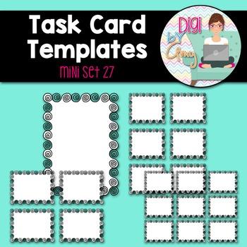 Task Card Templates Clip Art MINI SET 27