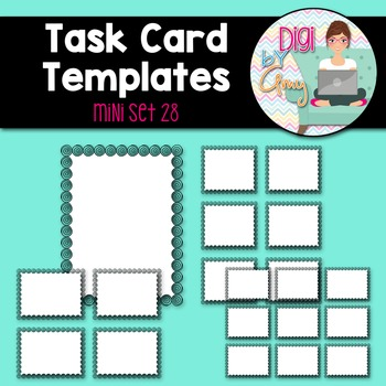 Task Card Templates Clip Art MINI SET 28