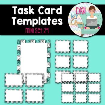 Task Card Templates clipart - MINI SET 29