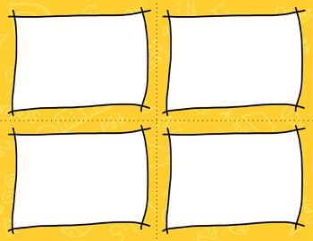 Task Card Templates Clip Art MINI SET 3